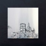 Mannheim, Gemälde, Kunst am Bau, Baukunst, Wasserturm, Pflanzen, Altes, Rathaus, Nationaltheater, Kalender, Kunstdruck, Reproduktion, Alu, Dibond